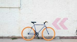 A photo of a bicycle
