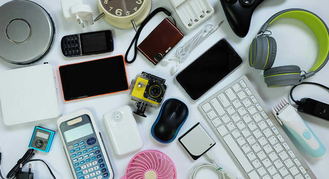 A photo of electronic products