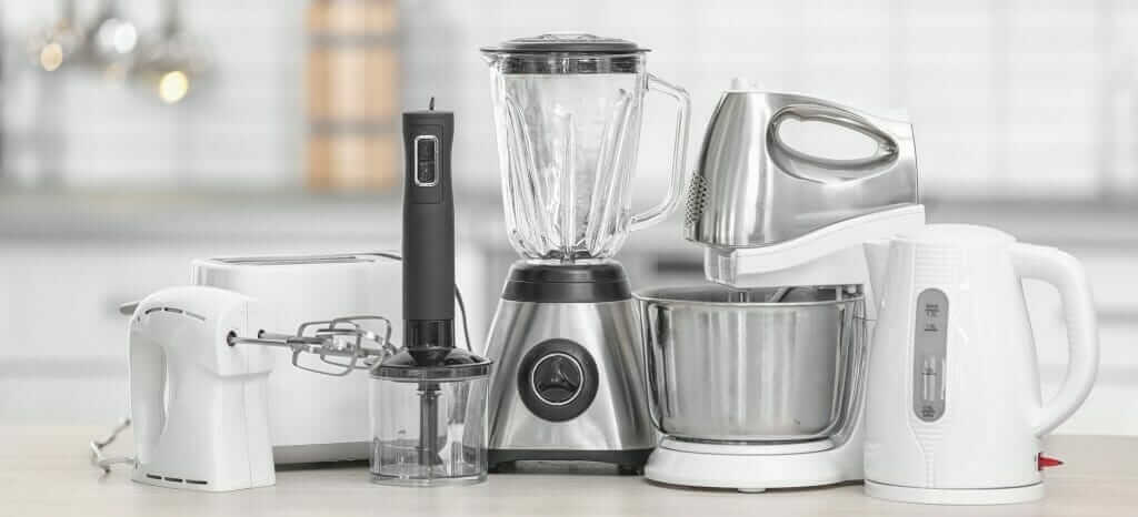 Household electrical kitchen appliances