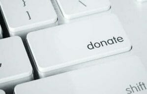 keyboard with donate key