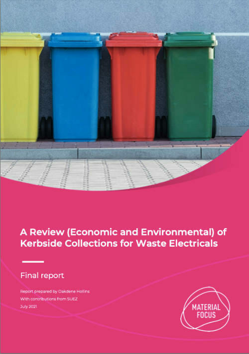Review Economic and Environmental of Kerbside Collections for Waste Electricals cover