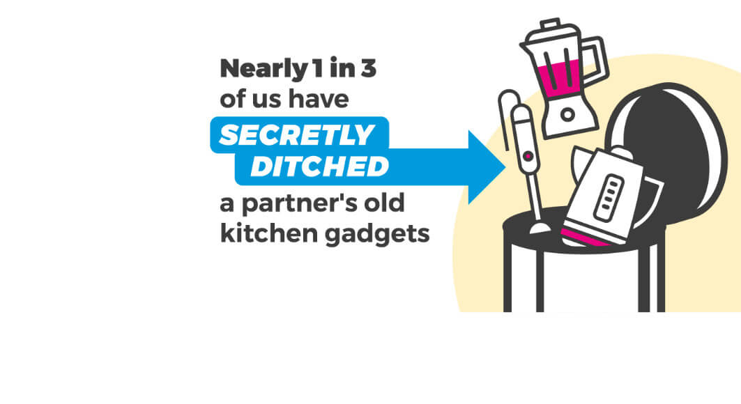 Illustration - Nearly 1 in 3 have ditched old kitchen gear