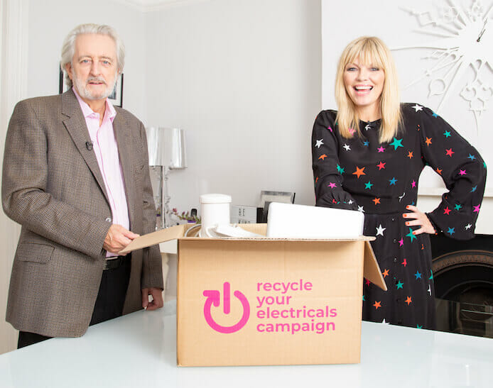 Paul Lewis and Kate Thornton launch Recycle Your Electricals campaign
