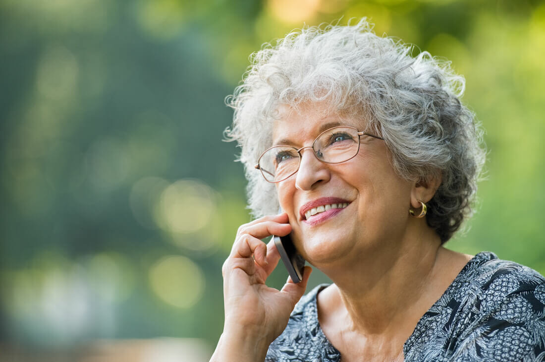 woman speaking on mobile phone