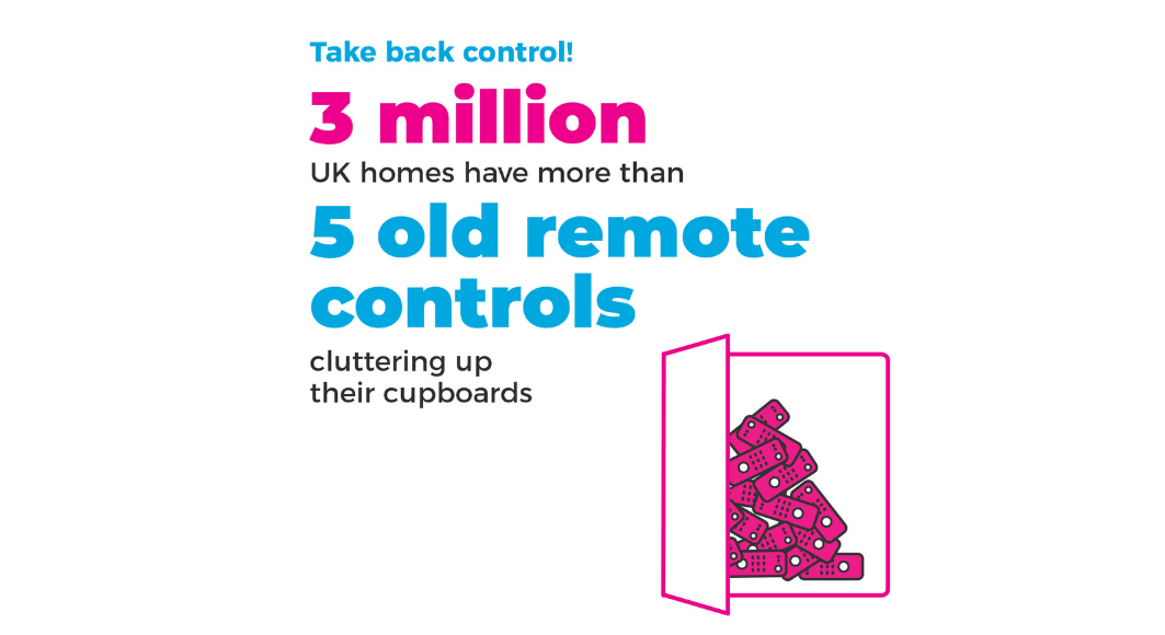 graphic show 3 million homes have 5 old remote controls